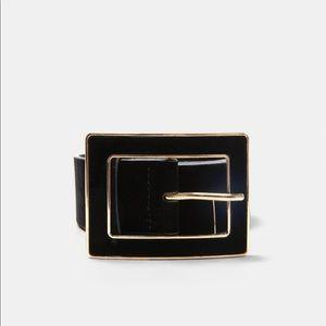 Zara Velvet Belt — Size 80